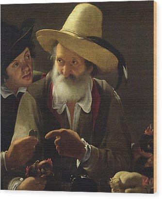 The Bird Seller Wood Print by Pensionante de Saraceni