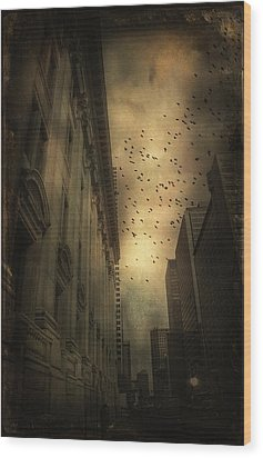 The Birds Wood Print by Peter Labrosse