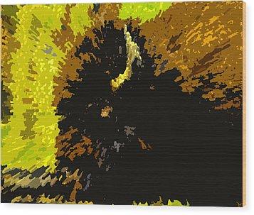 The Bison Hunt Wood Print by David Lee Thompson