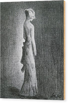 The Black Bow Wood Print