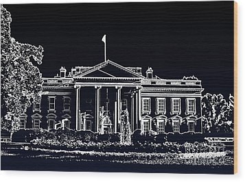 The Black House Wood Print by Joe Finney