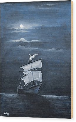 The Black Pearl Wood Print by Rajeev M Krishnan