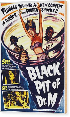 The Black Pit Of Dr. M, Aka Misterios Wood Print by Everett