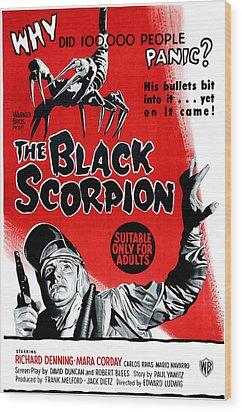 The Black Scorpion, Bottom Richard Wood Print by Everett