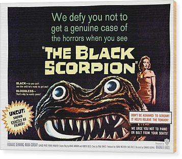 The Black Scorpion, On Right Mara Wood Print by Everett