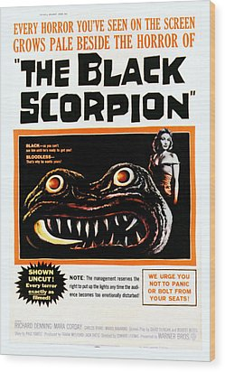 The Black Scorpion, Right Mara Corday Wood Print by Everett