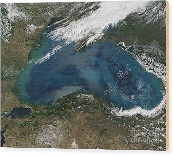The Black Sea In Eastern Russia Wood Print by Stocktrek Images
