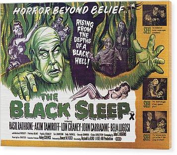 The Black Sleep, Close-up On Left Tor Wood Print by Everett