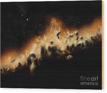 The Blast Wave Of A Nova Pulls Away Wood Print by Brian Christensen