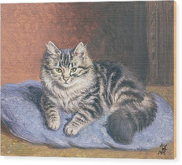The Blue Cushion Wood Print by Horatio Henry Couldery