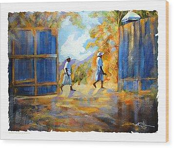 The Blue Gates Of Haiti Wood Print by Bob Salo