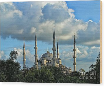 The Blue Mosque Sultanahmet Camii  Wood Print by Alexandra Jordankova