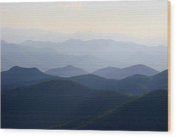 The Blue Ridge Wood Print