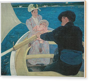 The Boating Party Wood Print by Mary Cassatt