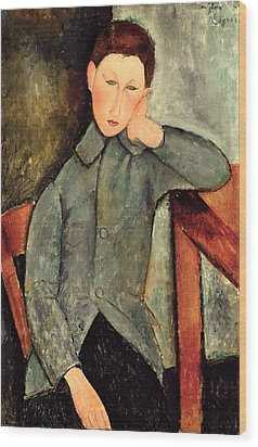 The Boy Wood Print by Amedeo Modigliani