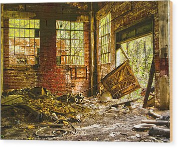 Wood Print featuring the photograph The Brick Room by Kimberleigh Ladd