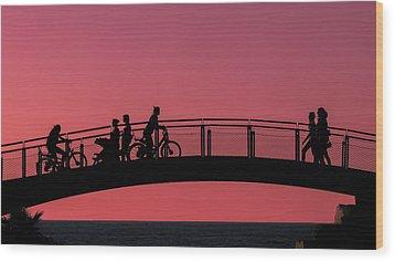 The Bridge Wood Print by Amr Miqdadi