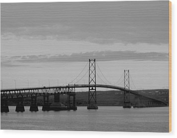 The Bridge Wood Print by Sophie  Bouchard