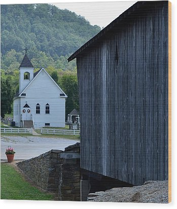 The Bridge To Salvation Is Covered Wood Print