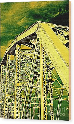 The Bridge To The Skies Wood Print by Susanne Van Hulst