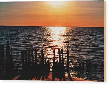 Wood Print featuring the photograph The Broken Pier by Kelly Reber