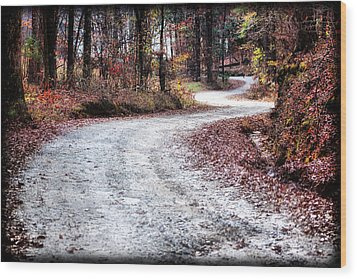 The Broken Road Wood Print by Lynne Jenkins