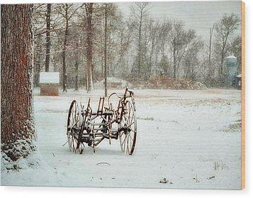 The Broken Wheel Wood Print by Kelly Reber