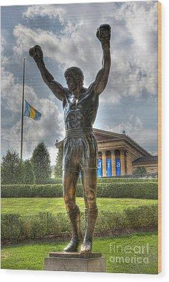 The Bronze Stallion - Rocky Balboa - Philadelphia - Pennsylvania - Rocky Steps Wood Print by Lee Dos Santos