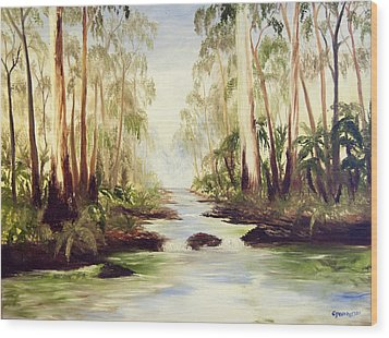The Buckland River Wood Print