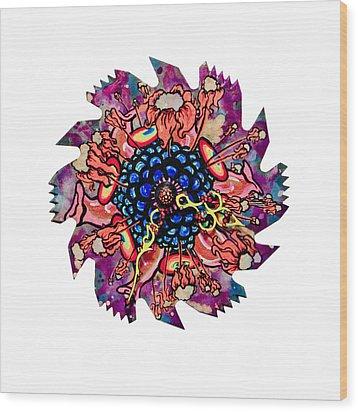 The Bug-blossom Wood Print by Jessica Sornson