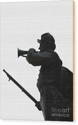 Wood Print featuring the photograph The Bugler by Cindy Manero