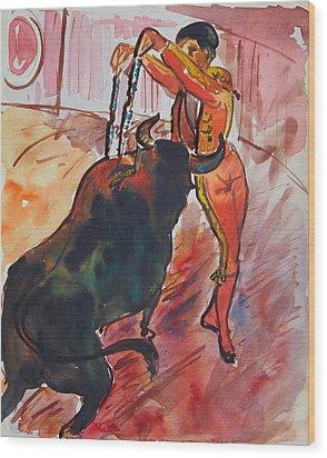 The Bull Fight Wood Print by Bill Joseph  Markowski