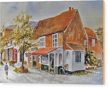 Wood Print featuring the painting The Butcher Shop Lenham by Beatrice Cloake