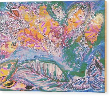 The Butterfly's Dream Wood Print by Anne-Elizabeth Whiteway