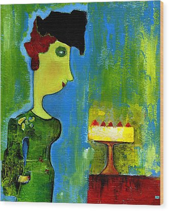 The Cake Wood Print by Agnes Trachet
