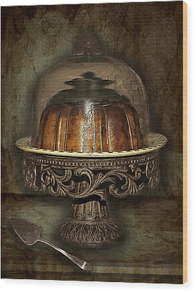 The Cake Plate Wood Print