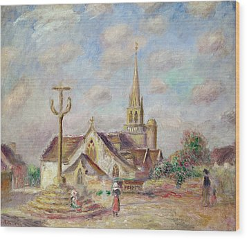 The Calvary At Pont Aven Wood Print by Pierre Auguste Renoir