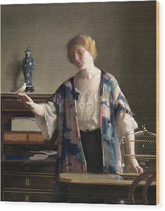 The Canary Wood Print by William McGregor Paxton