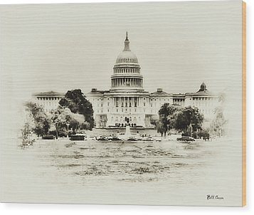The Capital Bulding Wood Print by Bill Cannon