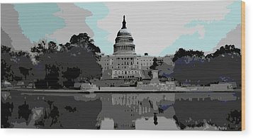 the Capitol  Wood Print by George Pedro