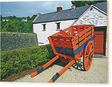 Wood Print featuring the photograph The Cart by Charlie and Norma Brock