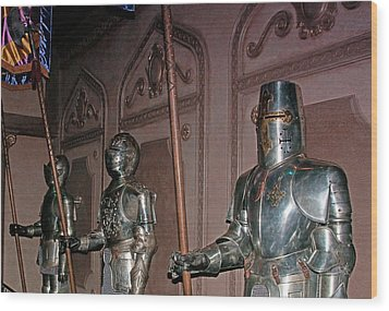 The Castle Guards Wood Print by John Black