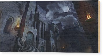 The Castle Wood Print by Virginia Palomeque