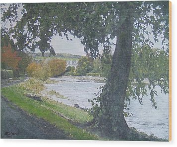 Wood Print featuring the painting The Cauld Peebles by Richard James Digance