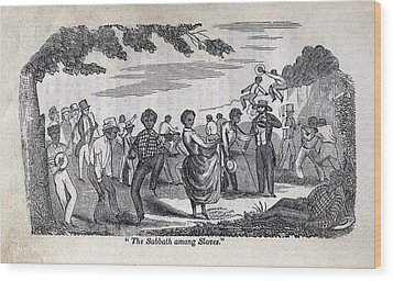 The Celebration Of The Sabbath Among Wood Print by Everett