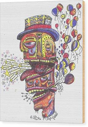 The Celebration Wood Print by Robert Wolverton Jr
