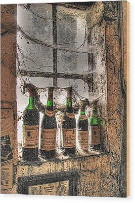 The Cellar Window Wood Print by William Fields