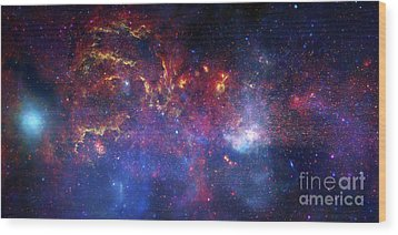 The Central Region Of The Milky Way Wood Print by Stocktrek Images