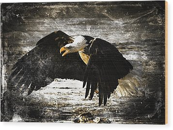 Wood Print featuring the digital art The Chase by Carrie OBrien Sibley