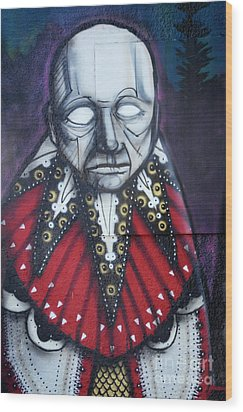The Chief Wood Print by Bob Christopher